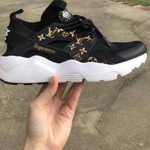 Gently used Nike Huarache Customs